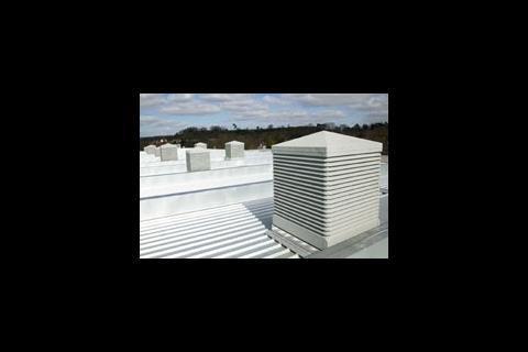 Passive ventilation discharge terminals